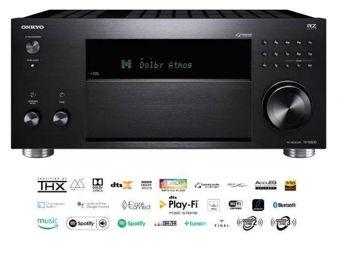 Onkyo - TX-RZ830 Amplificateur audio vidéo 9.1 4K Dolby Atmos