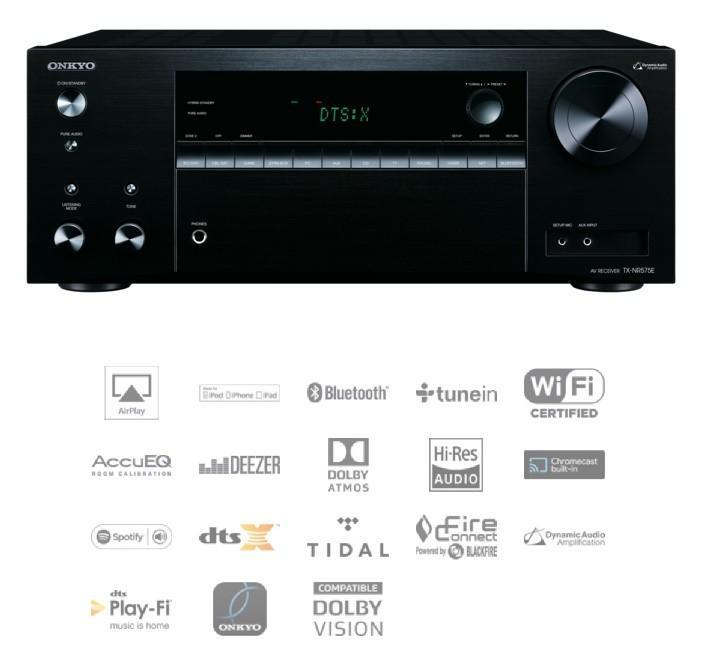 Onkyo - TX-NR575E Amplificateur audio vidéo 7.1 4K Dolby Atmos