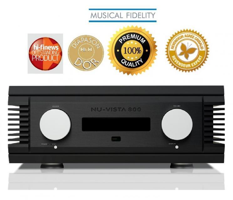 Musical Fidelity - NU-VISTA 800 Ampli intégré stéréo (Modèle d'exposition)