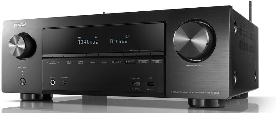 Denon - AVR-X1600H Amplificateur audio vidéo 4K 7.1