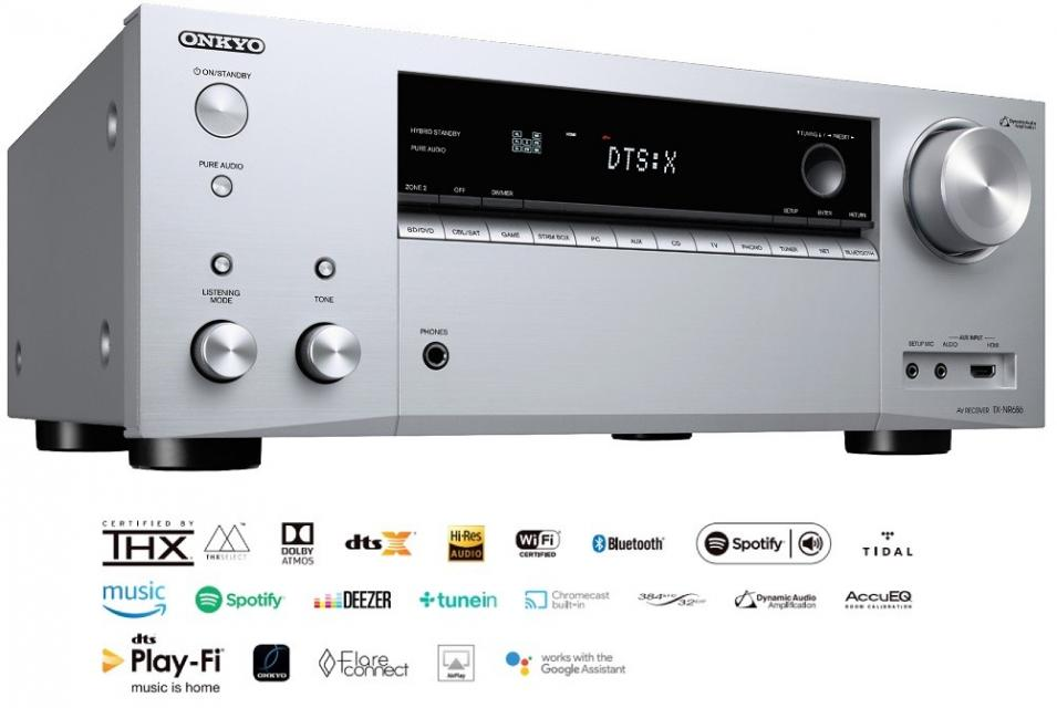 Onkyo - TX-NR686E Amplificateur audio vidéo 9.1 4K Dolby Atmos