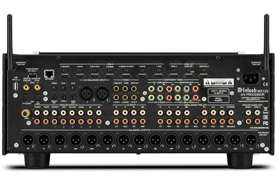 Mc Intosh - MX 123 Préamplificateur Audio vidéo 13.2 4K Dolby Atmos