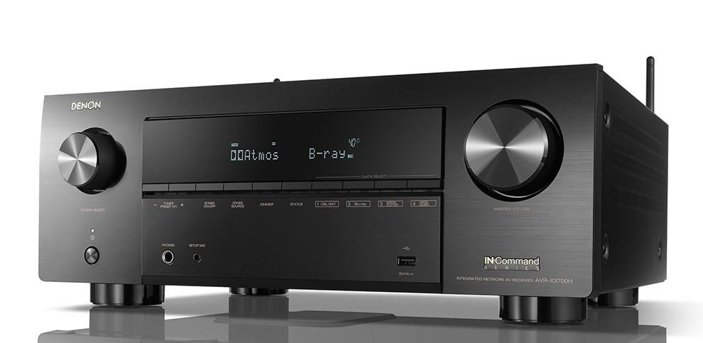 Denon - AVR-X3700H Amplificateur audio vidéo 9 canaux 4K Dolby Atmos